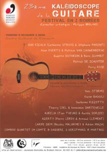 23e KALÉIDOSCOPE DE LA GUITARE Festival en 2 soirées à Rixensart
