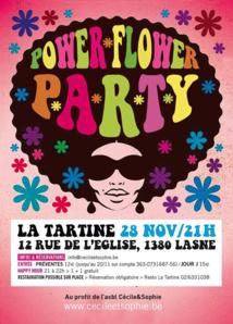 """Lasne : Soirée """"Power Flower"""" au profit de l'association de Cécile et Sophie"""