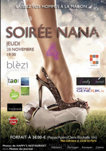 """Soirée """"NANAS"""" au Happy's !"""