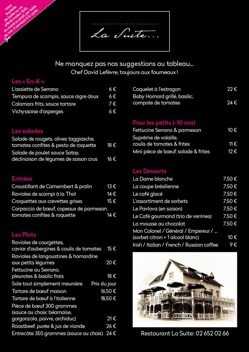 Restaurant La suite à Ohain