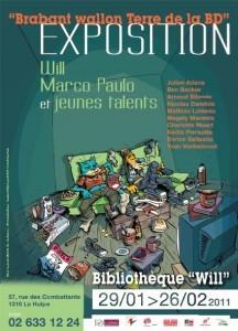 """EXPOSITION BANDE DESSINEE DU 29/01 AU 26/02 """"BRABANT WALLON TERRE DE LA BD"""""""