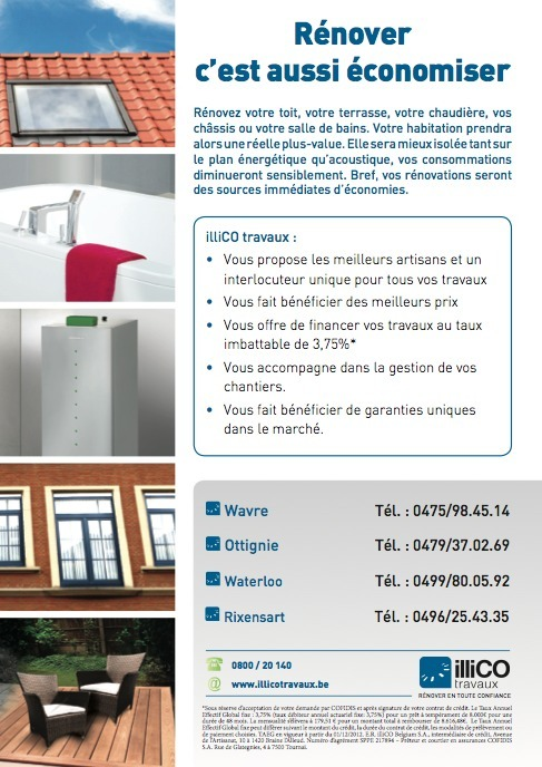 Illico Travaux en Brabant wallon.