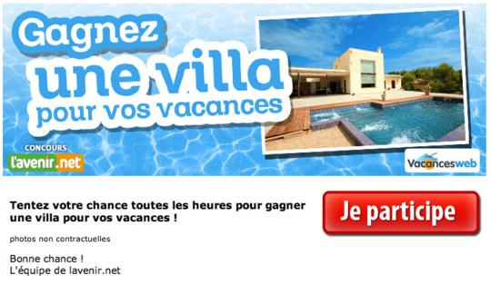 Gagnez une villa pour vos vacances !