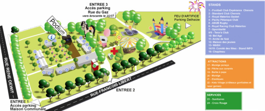 Du 19 au 21 juillet La Fête nationale, bien installée dans le parc communal de Waterloo