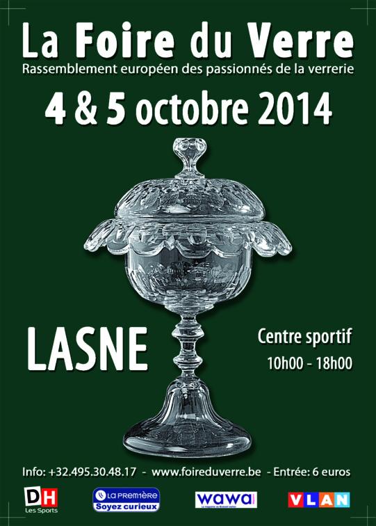 La Foire du Verre de Lasne du 4 au 5 octobre prochain.