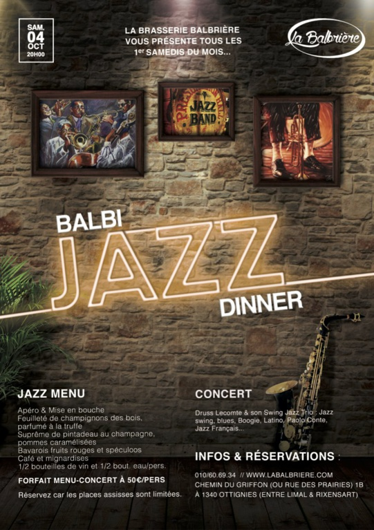 BALBI Jazz DINNER ! (Ottignies)