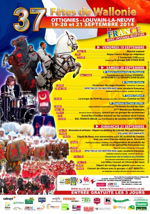 37èmes fêtes de Wallonie Ottignies Louvain-La-Neuve !