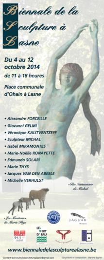 Biennale de la sculpture à Lasne.