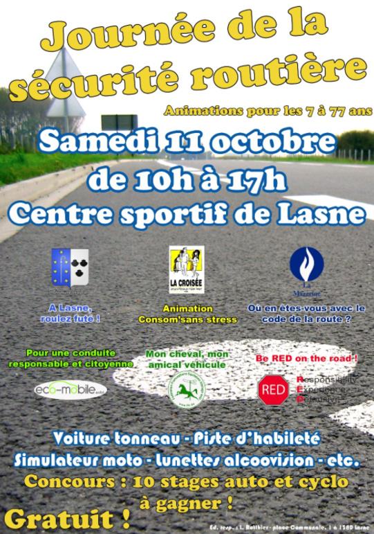Lasne: Grande journée de la sécurité routière le 11 octobre