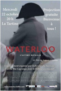 Lasne : Waterloo 1815 : le film à La Tartine