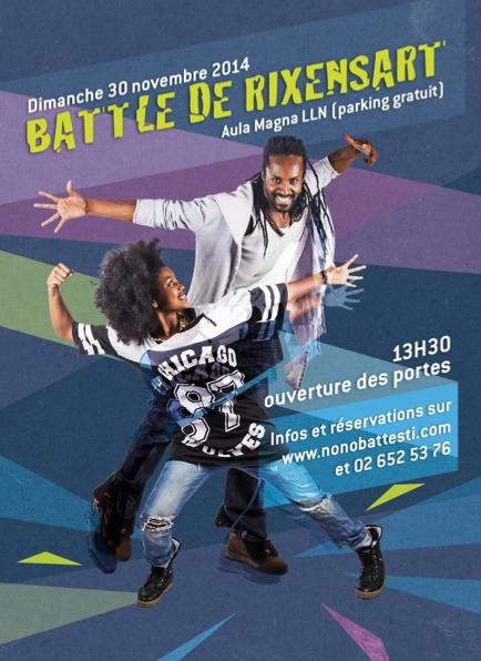 Hip Hop ! Battle de Rixensart le dimanche 30 novembre à l'Aula Magna !