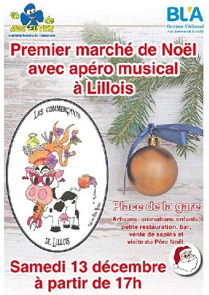 Lillois : Marché de Noël samedi 13 décembre