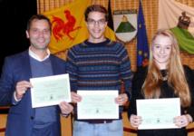 Des bourses communales pour trois talents Waterlootois