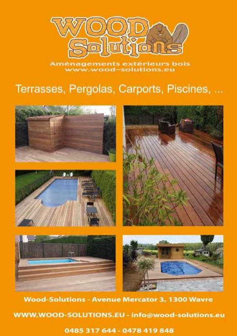 Wood Solutions  Terrasses, Pergolas, Carports, Piscines, (Wavre