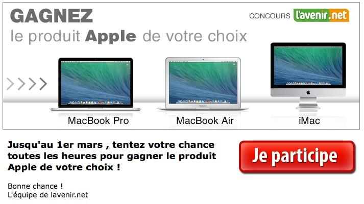 Gagnez le produit Apple de votre choix !