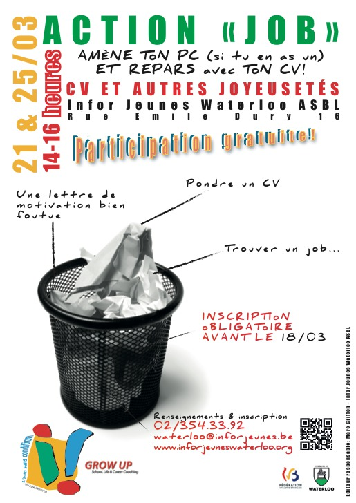 NOUVEAU A INFOR JEUNES WATERLOO : Atelier CV, Module d'orientation scolaire et professionnelle