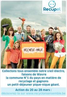 Wavre participe à « Recyclons ensemble »