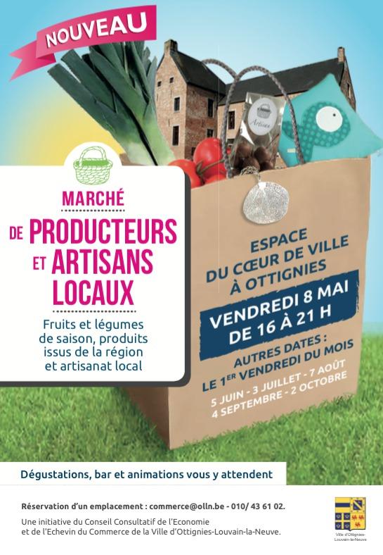 Ottignies-Louvain-la-Neuve : Le marché nocturne des producteurs et artisans locaux