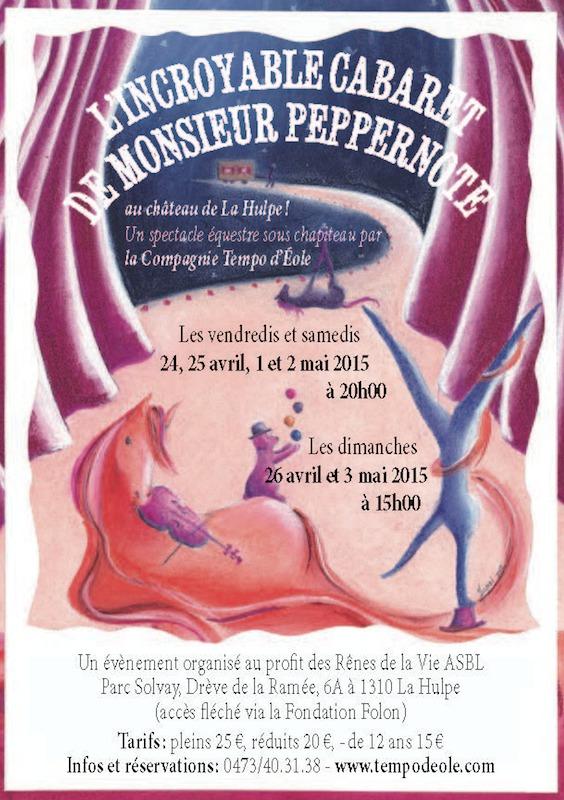 L'Incroyable cabaret de Monsieur Peppernote au château de la Hulpe !