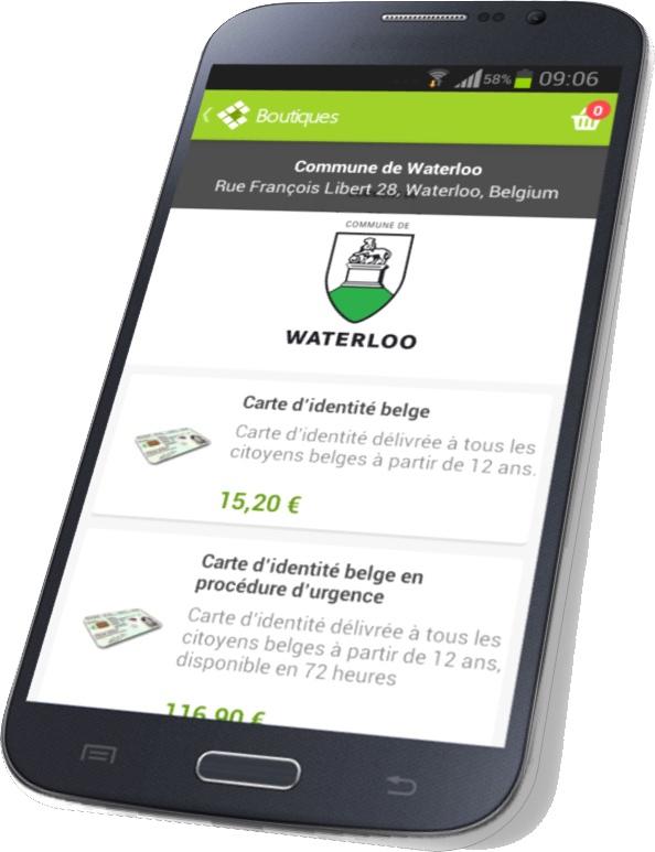 Waterloo, Commune pilote pour les paiements mobiles !
