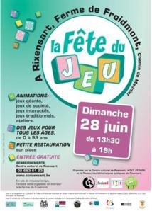 Rixensart : Ne manquez pas la troisième édition de la Fête du Jeu ce dimanche 28 juin de 13h30 à 19h !