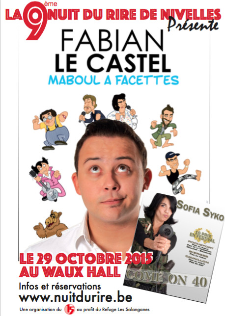 9ème nuit du rire - 29 Octobre 2015 au Waux Hall de Nivelles.