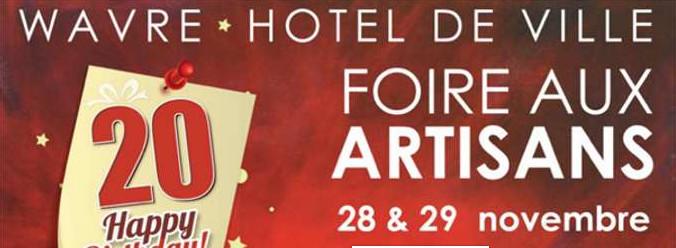 Foire aux Artisans les 28 et 29 novembre à WAVRE