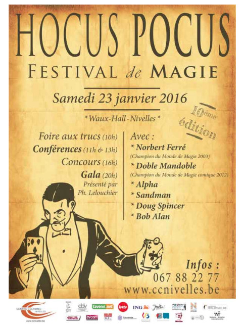 Nivelles : Hocus Pocus ! - Festival de Magie 2016