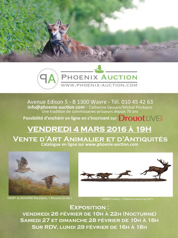 Wavre : Vente publique d'art animalier et d'antiquités