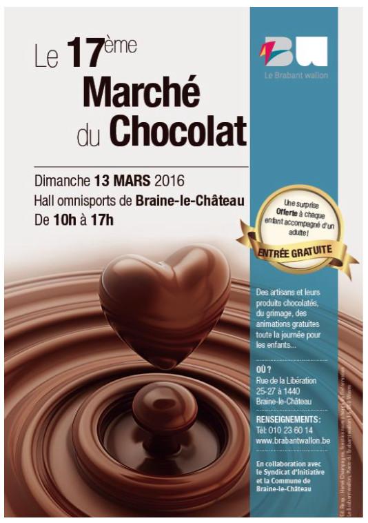 Braine-le-Château : 17éme édition du Marché du Chocolat.