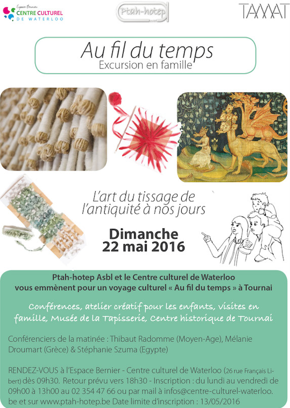 Famille : « Au fil du temps », une excursion qui relie Waterloo à Tournai grâce à la découverte du fil, du tissage et de la tapisserie