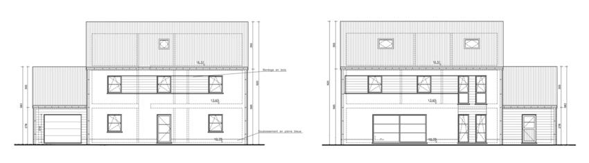 Super projet de construction Sibomat 4 façades «basse consommation» !