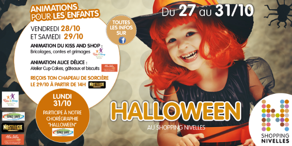 Halloween au Shopping de Nivelles !