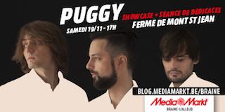Inscription pour le showcase privé de Puggy le 19 novembre !