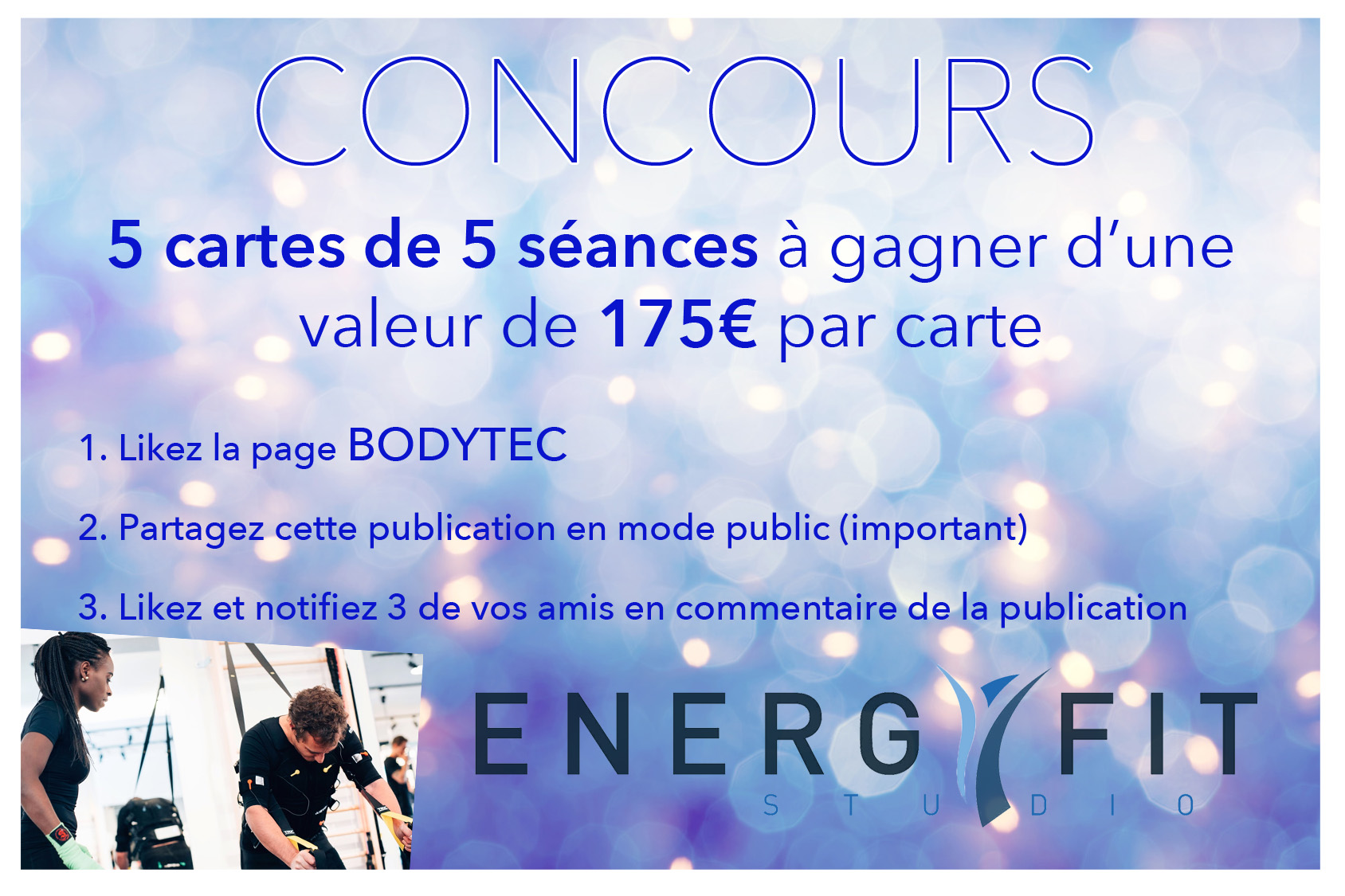 ! ! CONCOURS ENERGYFIT STUDIO by BODYTEC ! !