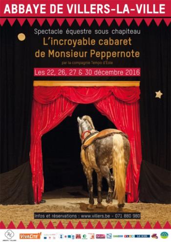 L'incroyable Cabaret de Monsieur Peppernote dans le cadre prestigieux des ruines de l'abbaye de Villers La Ville !