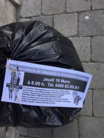 Nivelles : Attention ! Une collecte de vêtements illégale !
