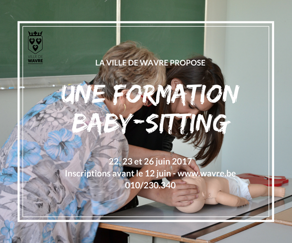 Wavre : Formation baby-sitting 2017