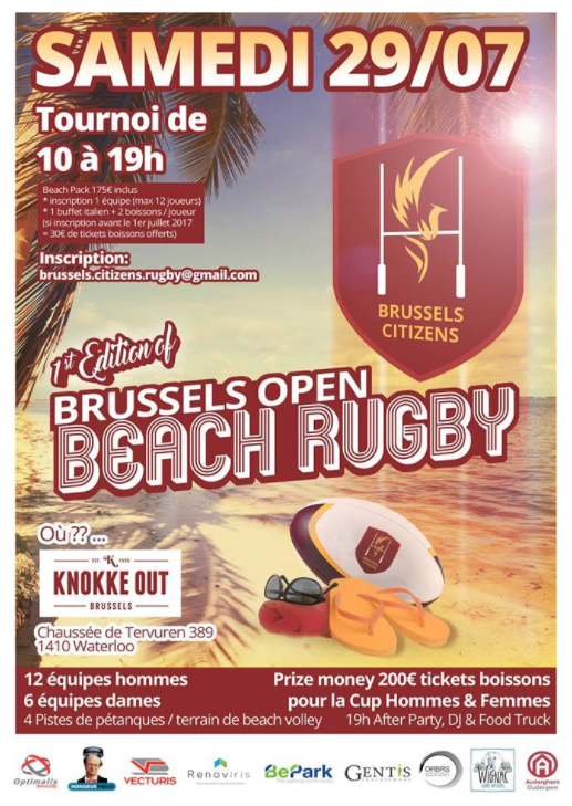 Brussels Open Beach Rugby 1st Edition !