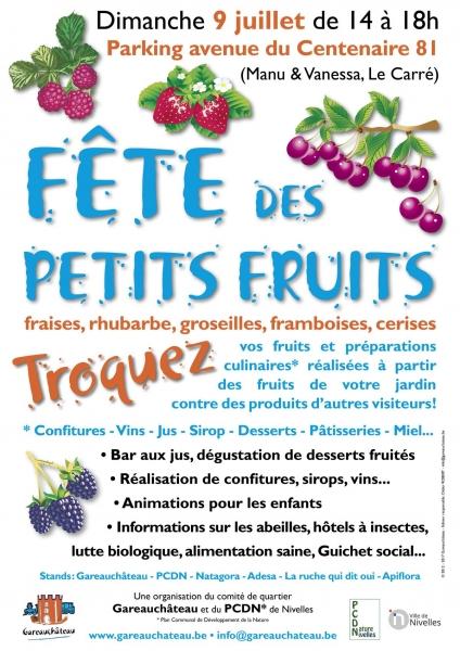 Nivelles : Fête des petits fruits (et des plaisirs gustatifs du jardin).