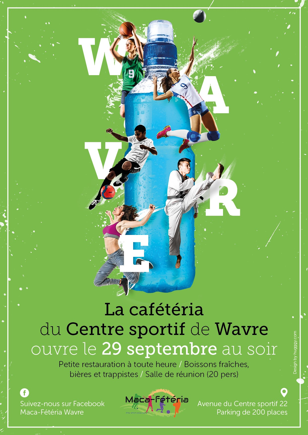 Le 29 septembre 2017, la cafétéria du Centre sportif de Wavre a ouvert ses portes !