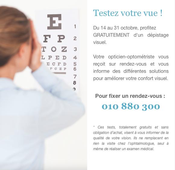 Art de Vue Opticien Wavre : Deux semaines de la vision !