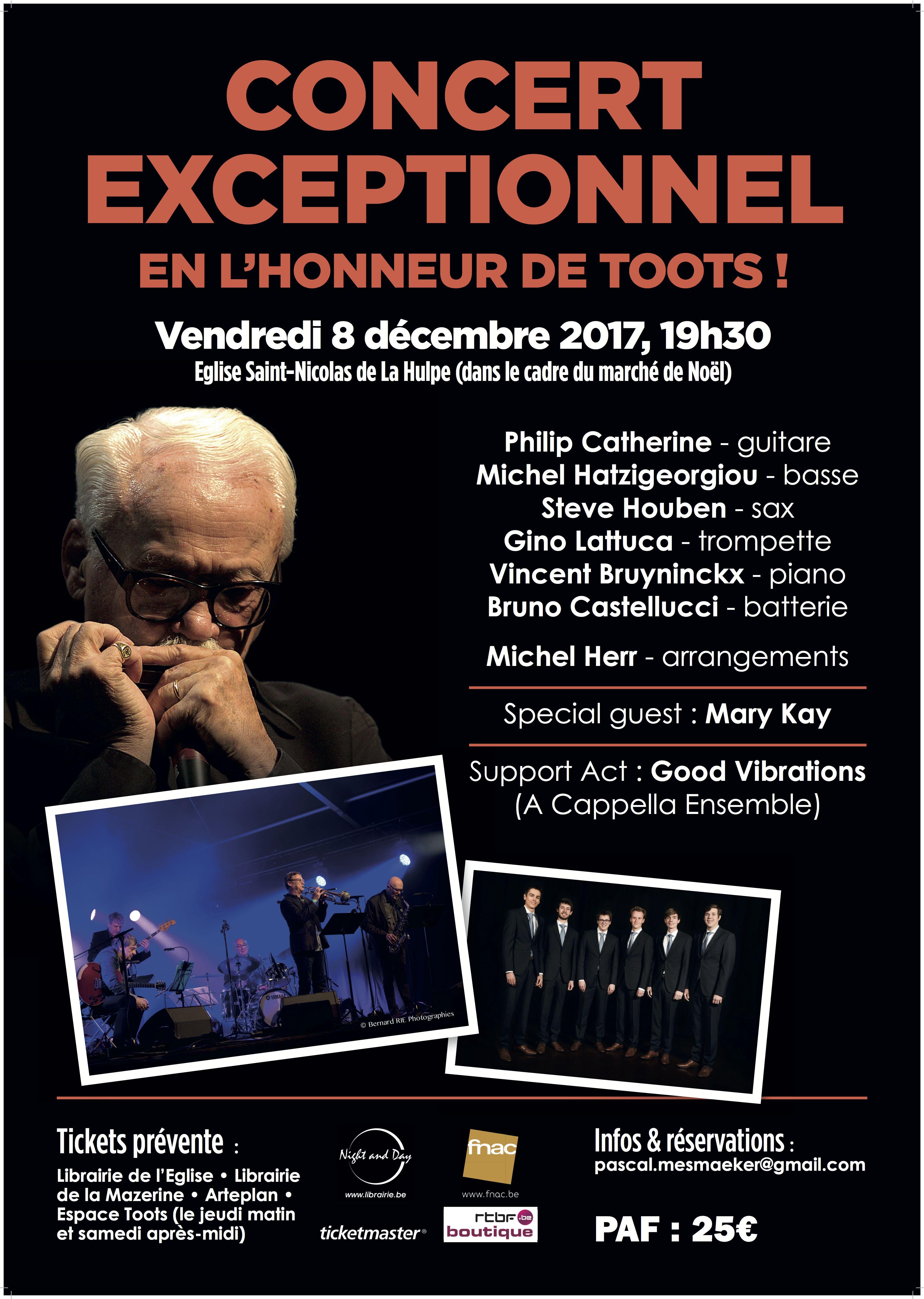 L'équipe du Toots Jazz Festival organise un concert exceptionnel en l'honneur de Toots