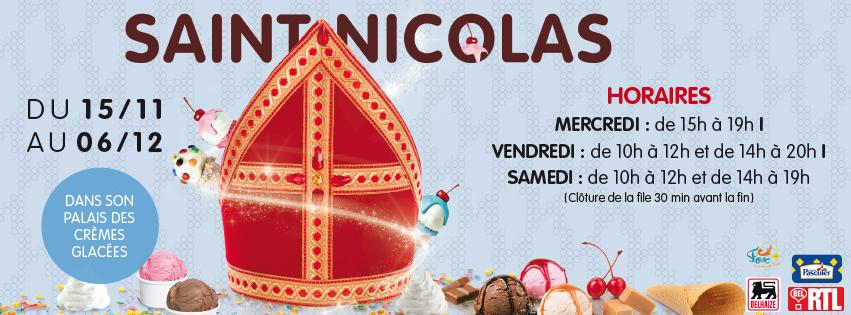 Venez rencontrer Saint Nicolas au Shopping Nivelles !