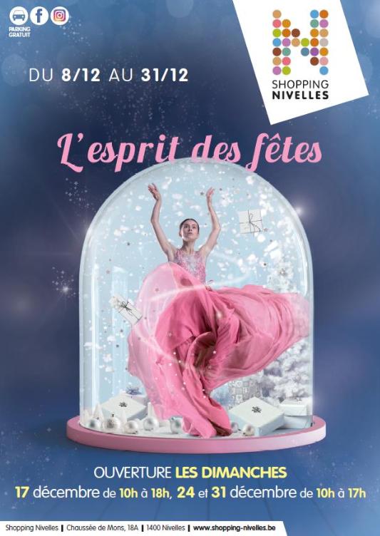 La Magie de Noël arrive le 8 décembre au Shopping Nivelles!