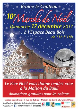 Braine le Château : 10e édition du marché de Noël.