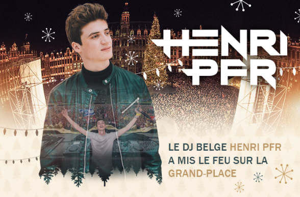 Henri PFR : Le DJ brabançon a mis le feu à la Grand Place !