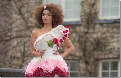 Incroyable : Une robe de pétales pour miss Brabant Wallon 2018 !