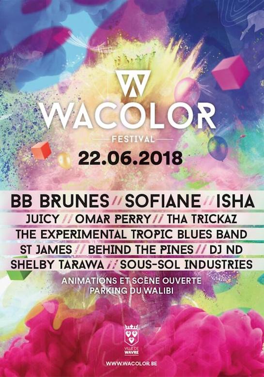 Nouveaux noms au festival Wacolor !