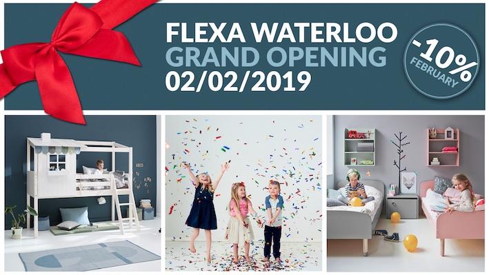 Grande ouverture de votre magasin Flexa Waterloo!